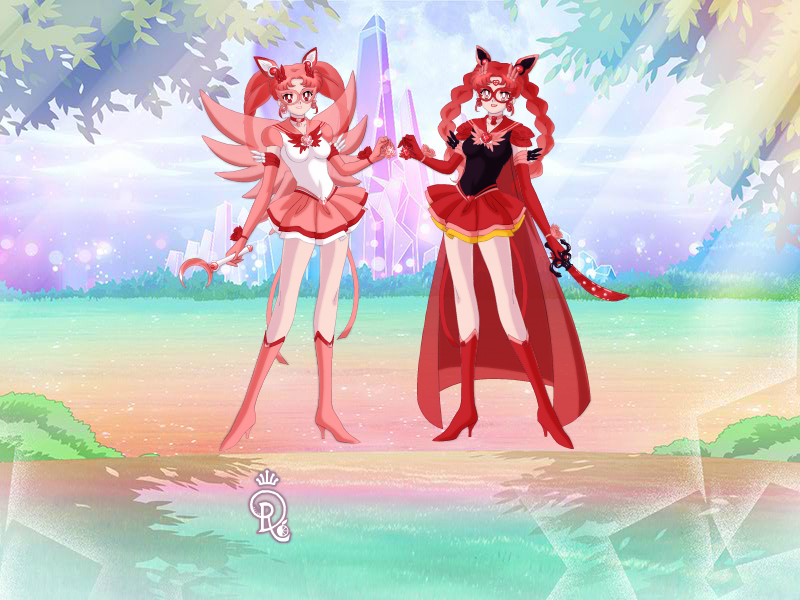 sailor rose moon and sailor rose earth by sailorrose92