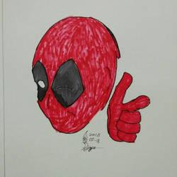 Deadpool Wink by Djajapena