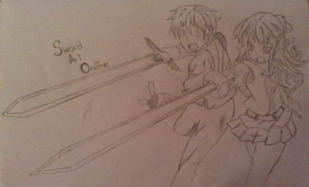 Asuna and Kirito SAO by Haphazard241000