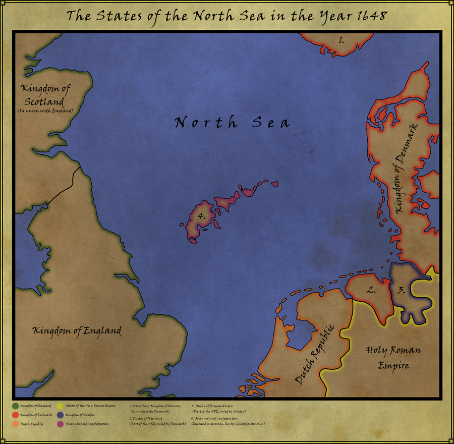 Map of the North Sea in 1648 by Rarayn on DeviantArt