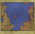 Map of the North Sea in 1648