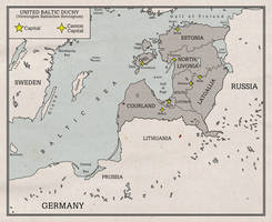 United Baltic Duchy Map by Rarayn