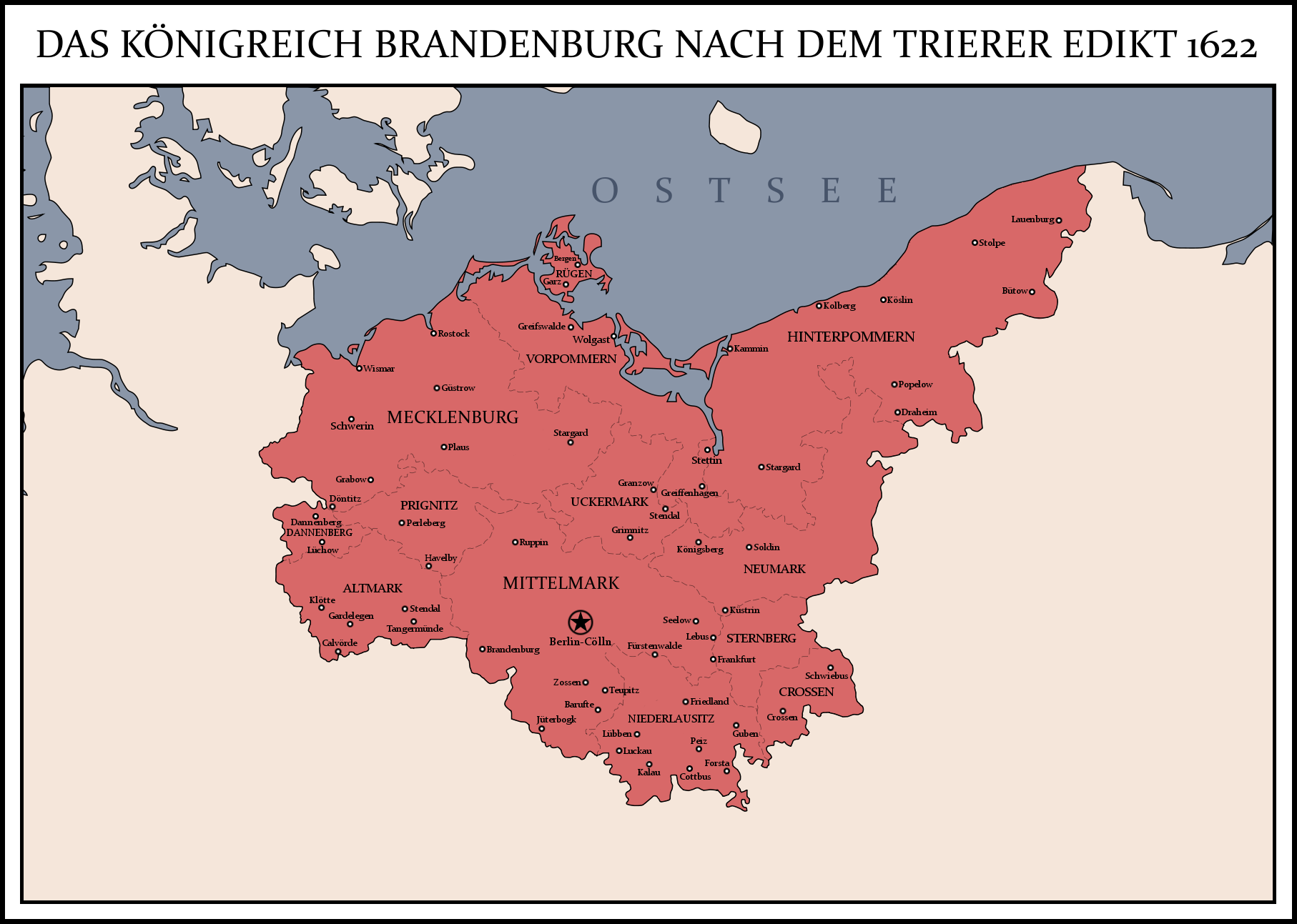 Kingdom of Brandenburg 1622 by Rarayn