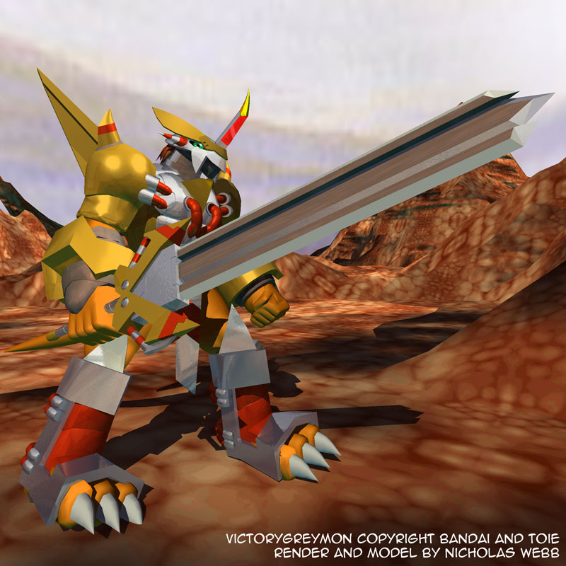 Victorygreymon Render 2 by blademanunitpi