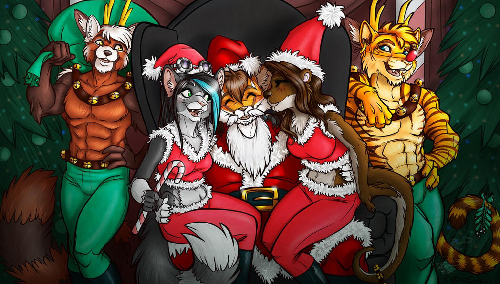 Santa's Cuties (by Cybercat and Ralloonx) by zergkiller