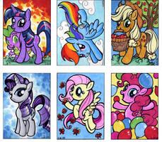 My Little Pony sketch cards by Kapow2003
