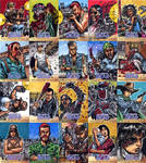 The Walking Dead Sketch cards (the singles) by Kapow2003