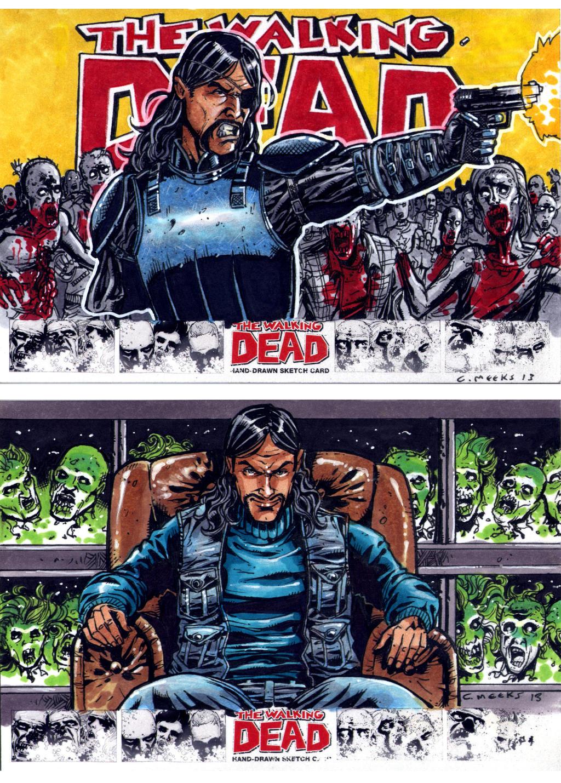 Walking Dead Comics set Oversized Comics cards by Kapow2003