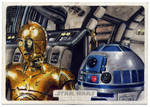 Topps Star Wars Illustrated sketch card WIP