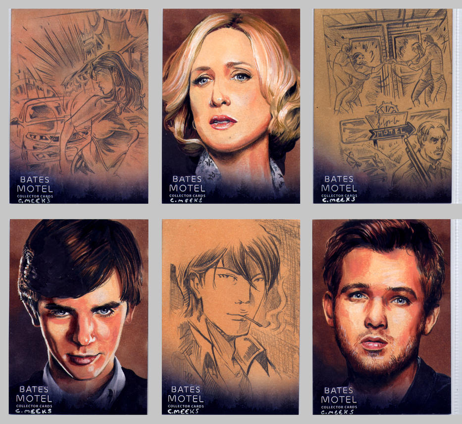 Bates Motel Sketch Cards #1 by Kapow2003