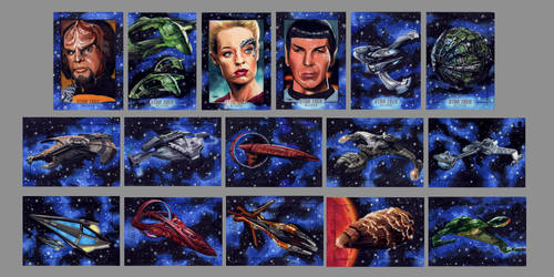 Star Trek sketch cards for Rittenhouse card set by Kapow2003