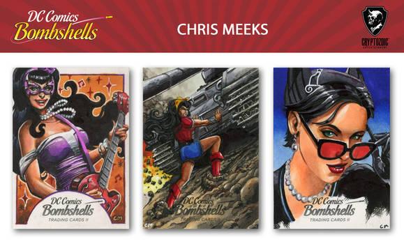 DC Bombshells II sketch cards
