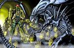 Queen Alien vs Space Marine