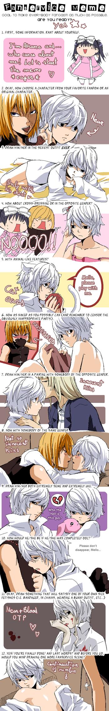 Fanservice Art Meme by KurosakiAkane