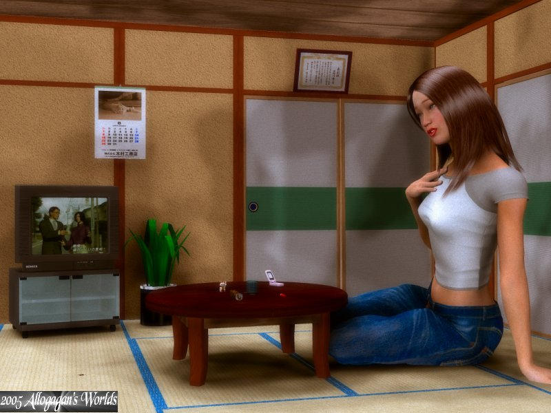 Watching a little TV by Allogagan