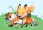 Original Art : Fox Siblings