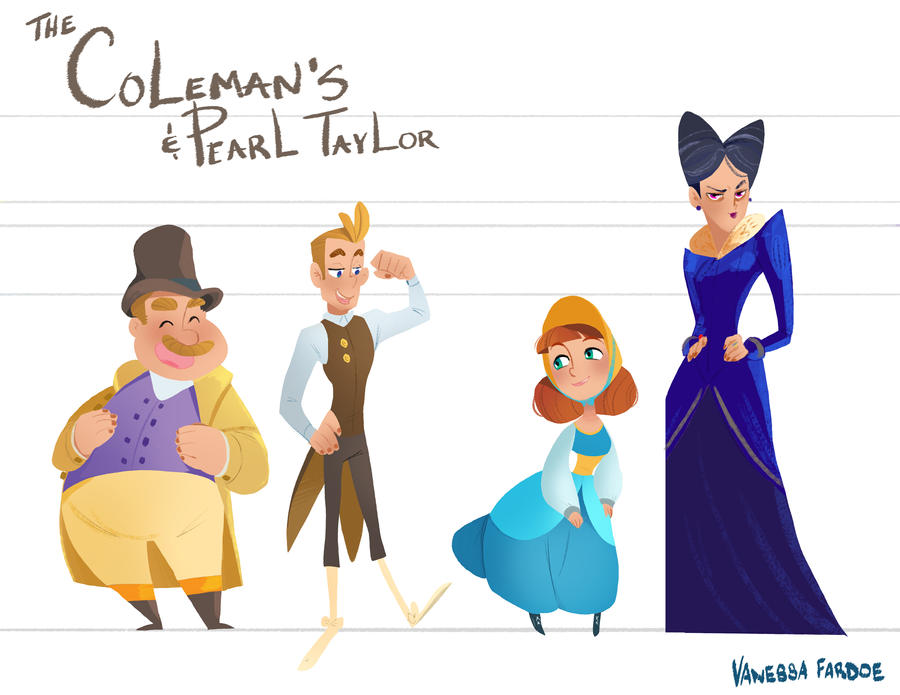 Original Art: Regency Line Up by VanessaFardoe