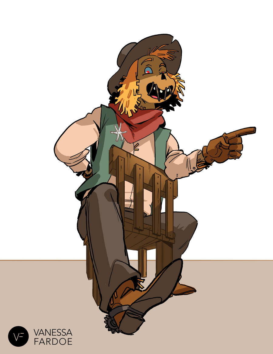 Original Art: Scarecrow Cowboy by VanessaFardoe