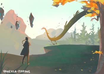 Concept Art: Dragon Sighting by VanessaFardoe