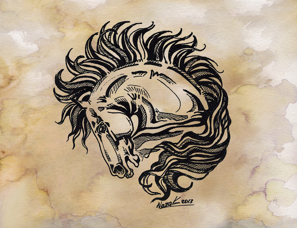 New School Horse Tattoo: Horse Tattoo 2 By Kantaka1 On DeviantArt