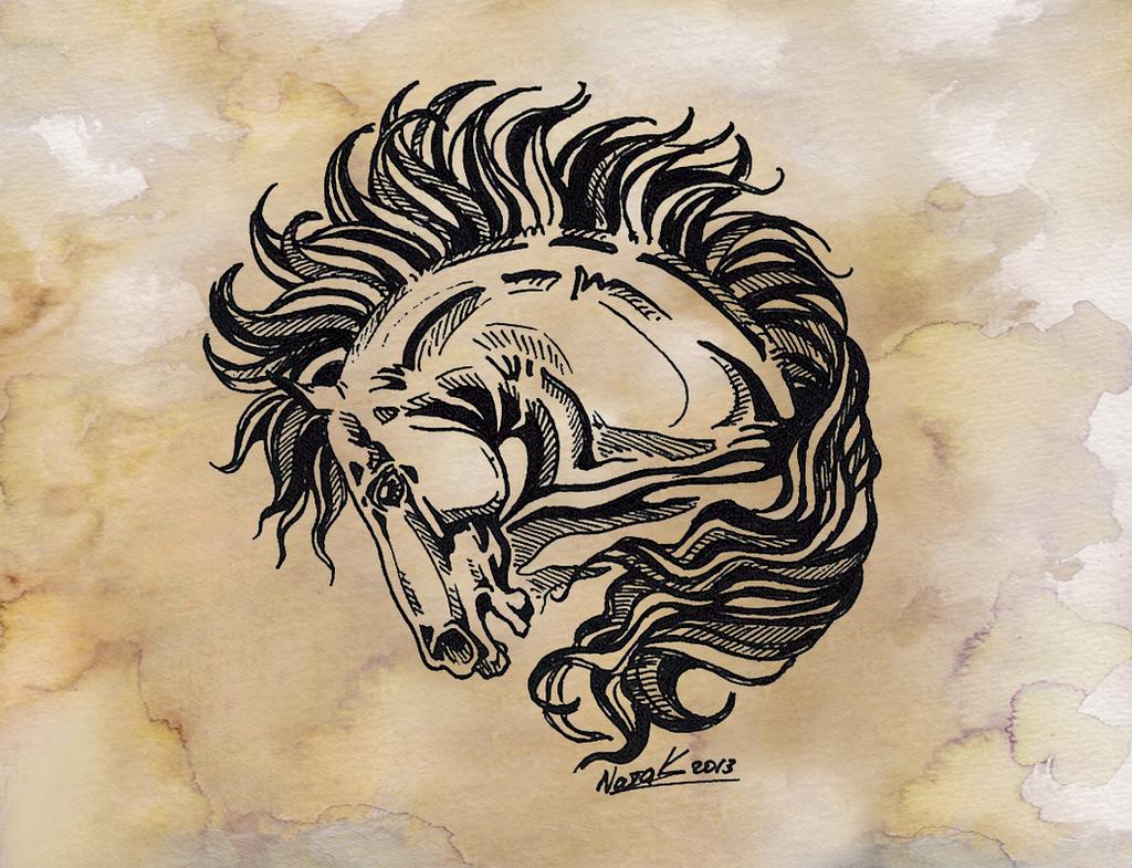 Horse tattoo 2 by kantaka1 on deviantart for Horse tattoo traditional