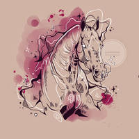 Horse in pink