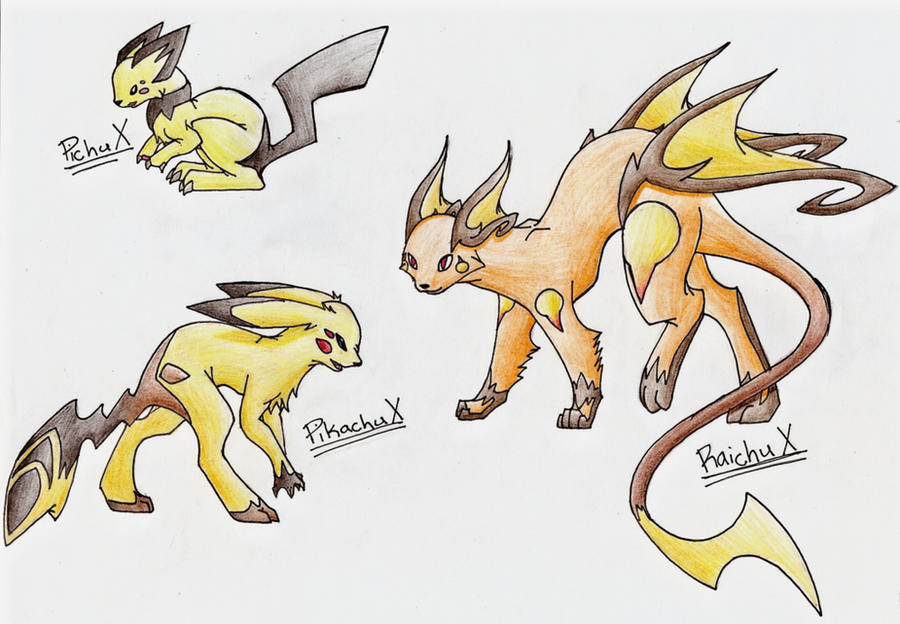 Pikachu Evolution Series X by CelestialTentails on DeviantArt