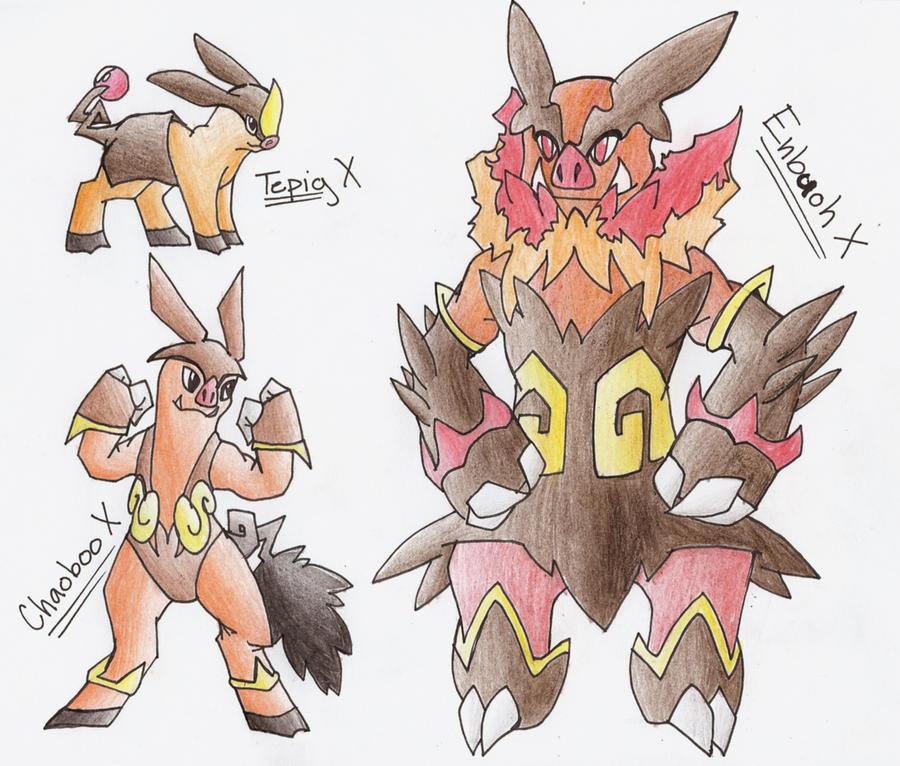 Tepig Evolution Series X by CelestialTentailsSewaddle Pokemon Evolution