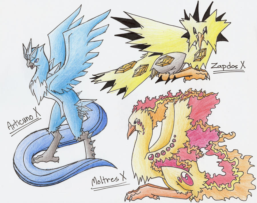 Legendary Bird Pokemon X By CelestialTentails