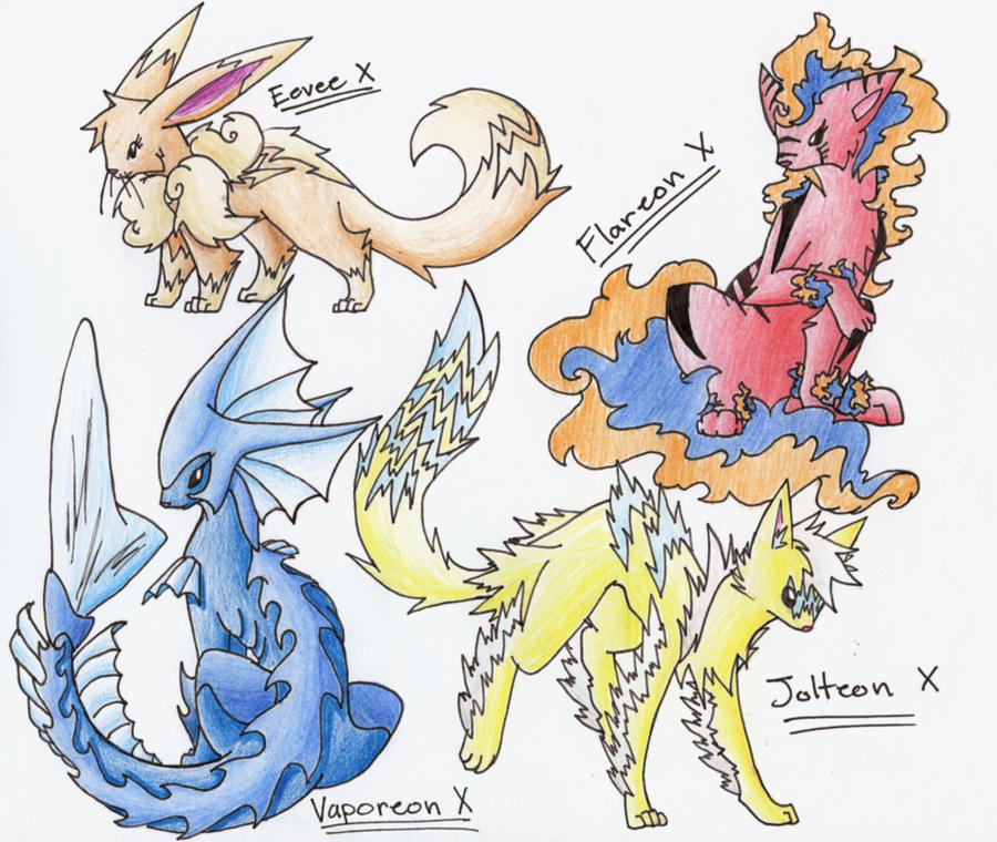 Eeveelutions All Types X Part 1 By