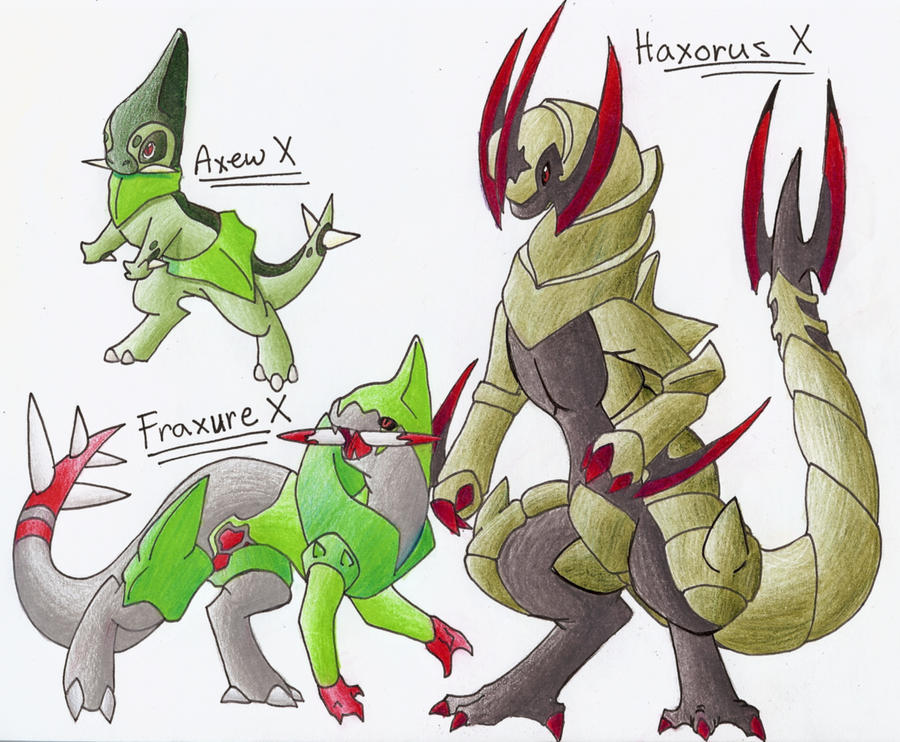 Axew Evolution Series X by CelestialTentails on DeviantArt