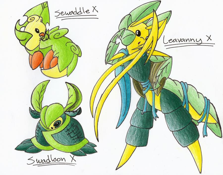 Sewaddle Evolution Series X by CelestialTentailsSewaddle Pokemon Evolution