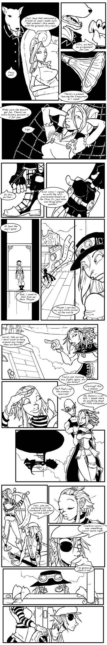 Rogue Skies: Round 1 pg 1-4 by Ekuneshiel