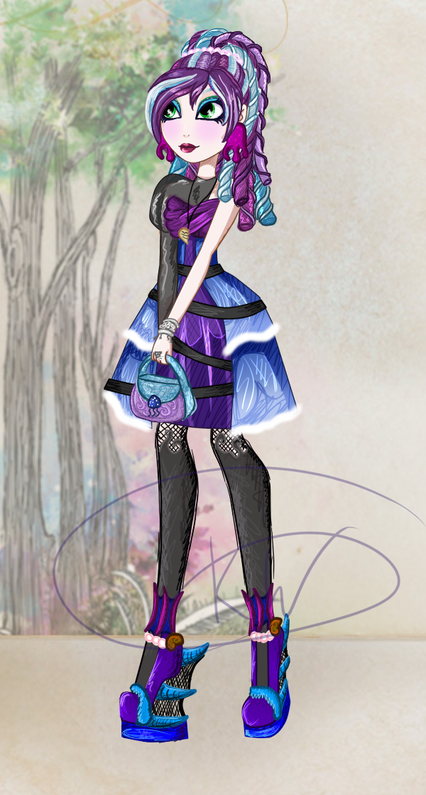 Ever After High OC: Eva witch by sbb09wojtanowiczk