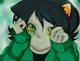 Don't cry Nepeta -color by Monche-chi