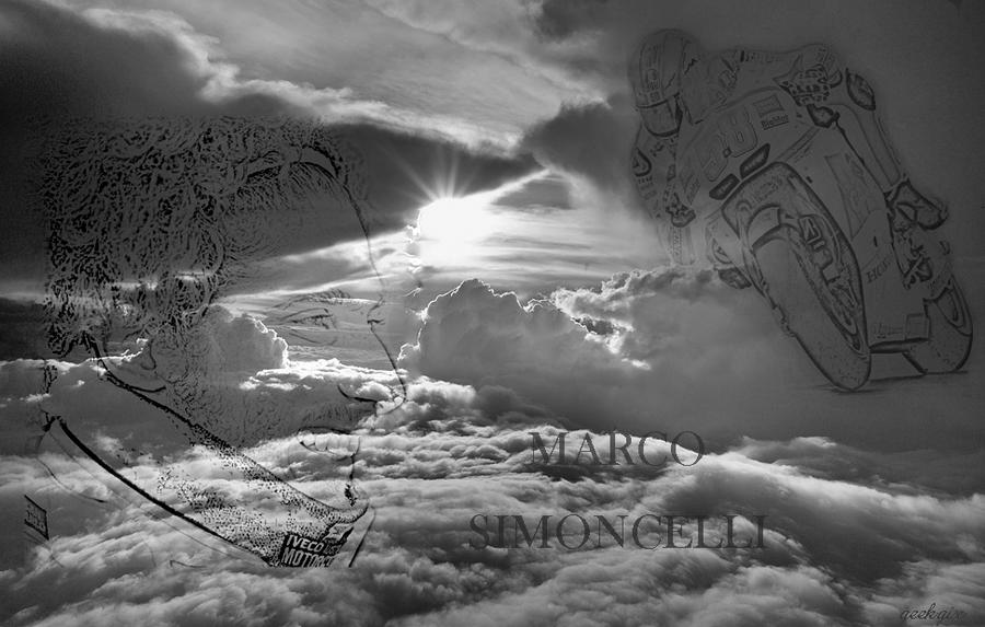 Marco simoncelli in heaven by gixgeek