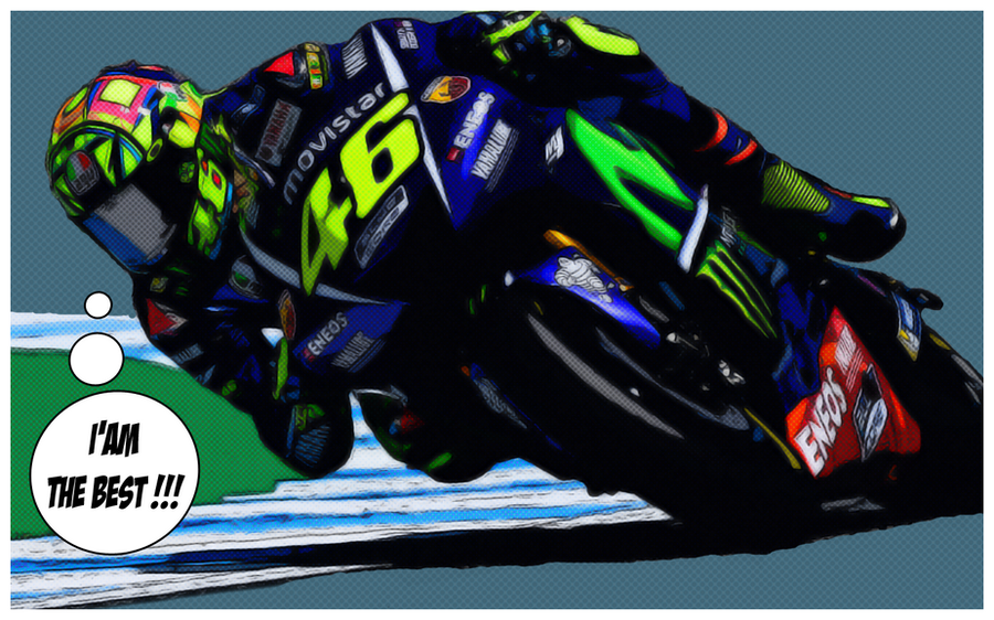 Valentino Rossi (Comics version) by gixgeek