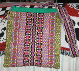 tote bag of handwoven cotton