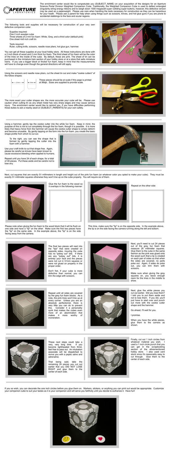 Companion Cube tutorial by HoiHoiSan