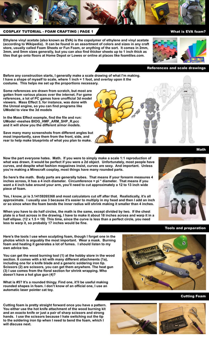 Cosplay Tutorial Page 1: Foam Bending Intro by HoiHoiSan