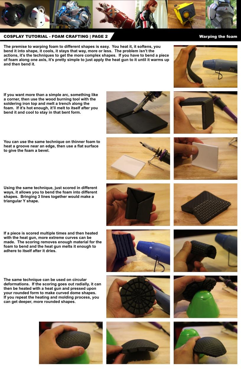 Cosplay Tutorial Page 2: Foam Bending