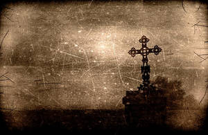 Cross on the road by dc58