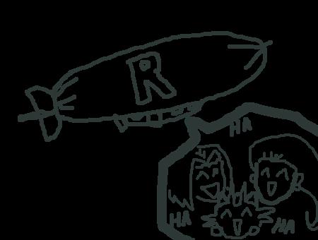 Muro - Team Rocket Blimp by KaizokuShojo
