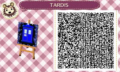 TARDIS - Animal Crossing QR Code by KaizokuShojo
