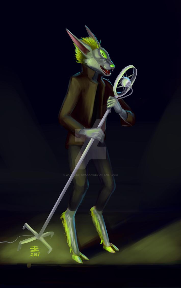The Space Dog sings by zaznobatarakan