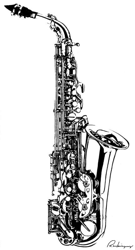 Briannabanana brianne deviantart - Saxophone dessin ...