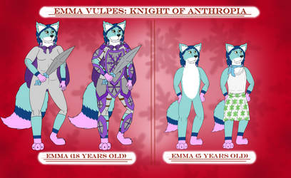 Emma Vulpes Reference Sheet By Sparkbolt3020 by Fire-Fox-25