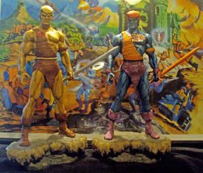 Heman Fakor statue set yourkillercustoms 1 by YOURKILLERCUSTOMS