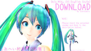 [MMD] Shio Miku V3 English Style (Ver. 1.04) + DL