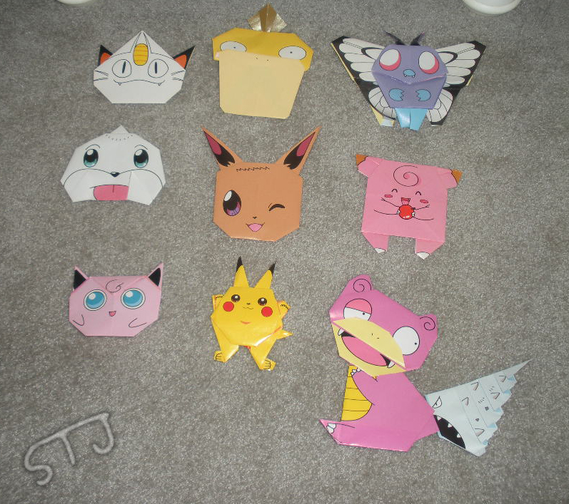Pokemon Origami By Superflatpsychosis On Deviantart